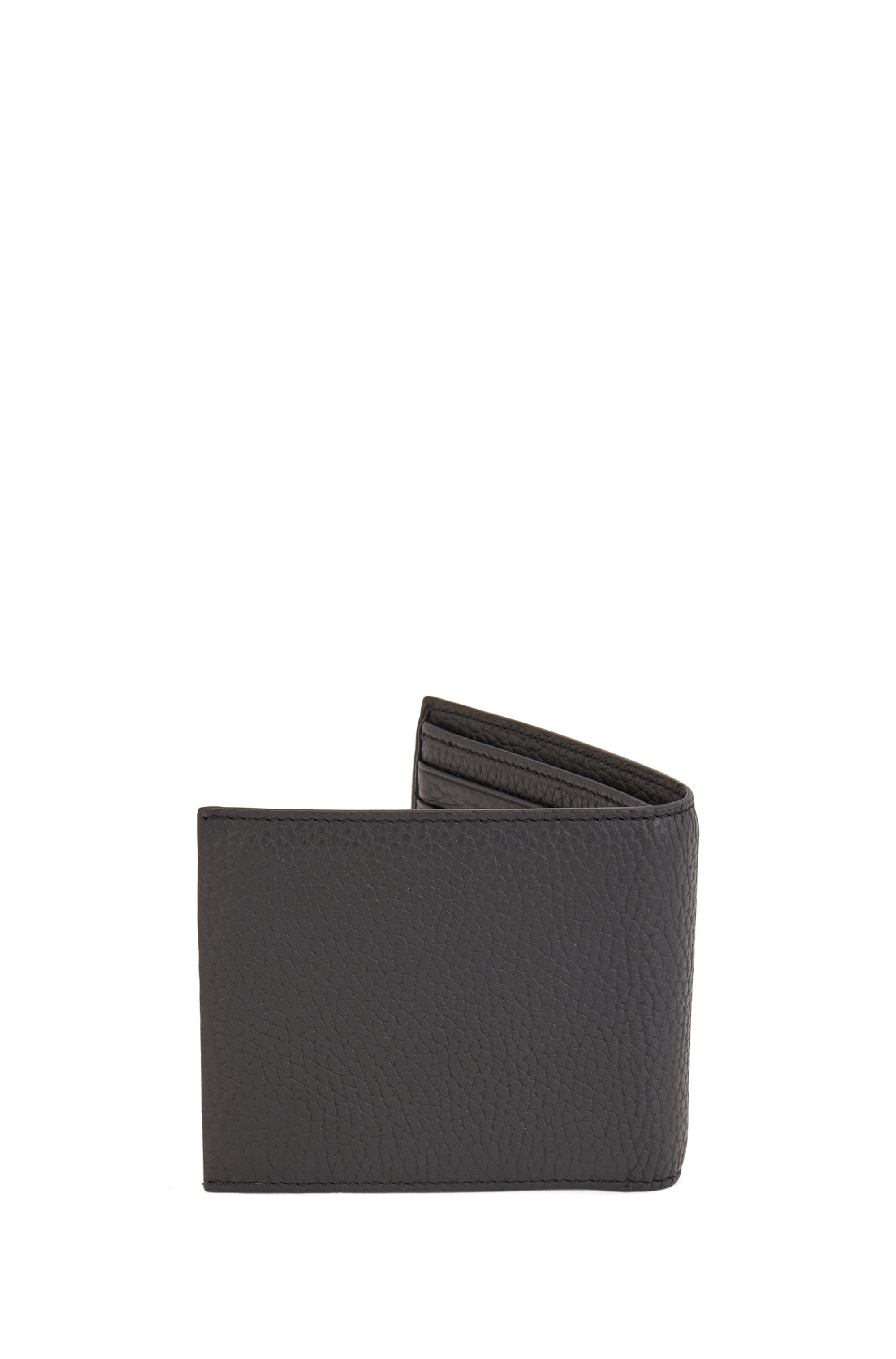 Grained Italian-leather wallet with coin pocket