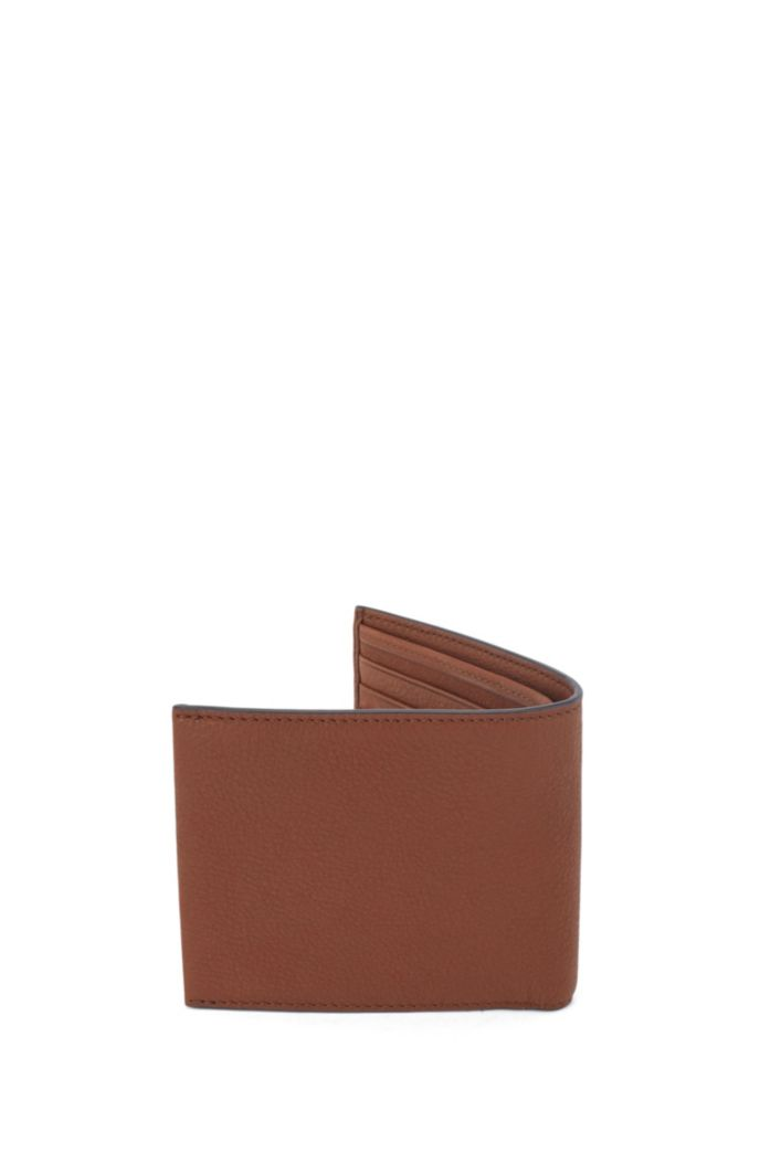 Billfold wallet in grained Italian leather