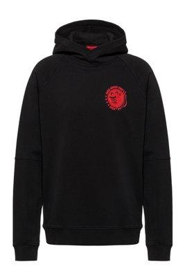 Sweat à capuche emblématique de la collection en coton recot²®, Noir