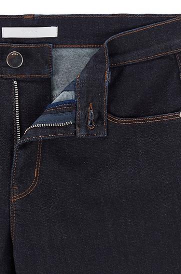 深蓝色超弹紧身牛仔裤,  409_暗蓝色
