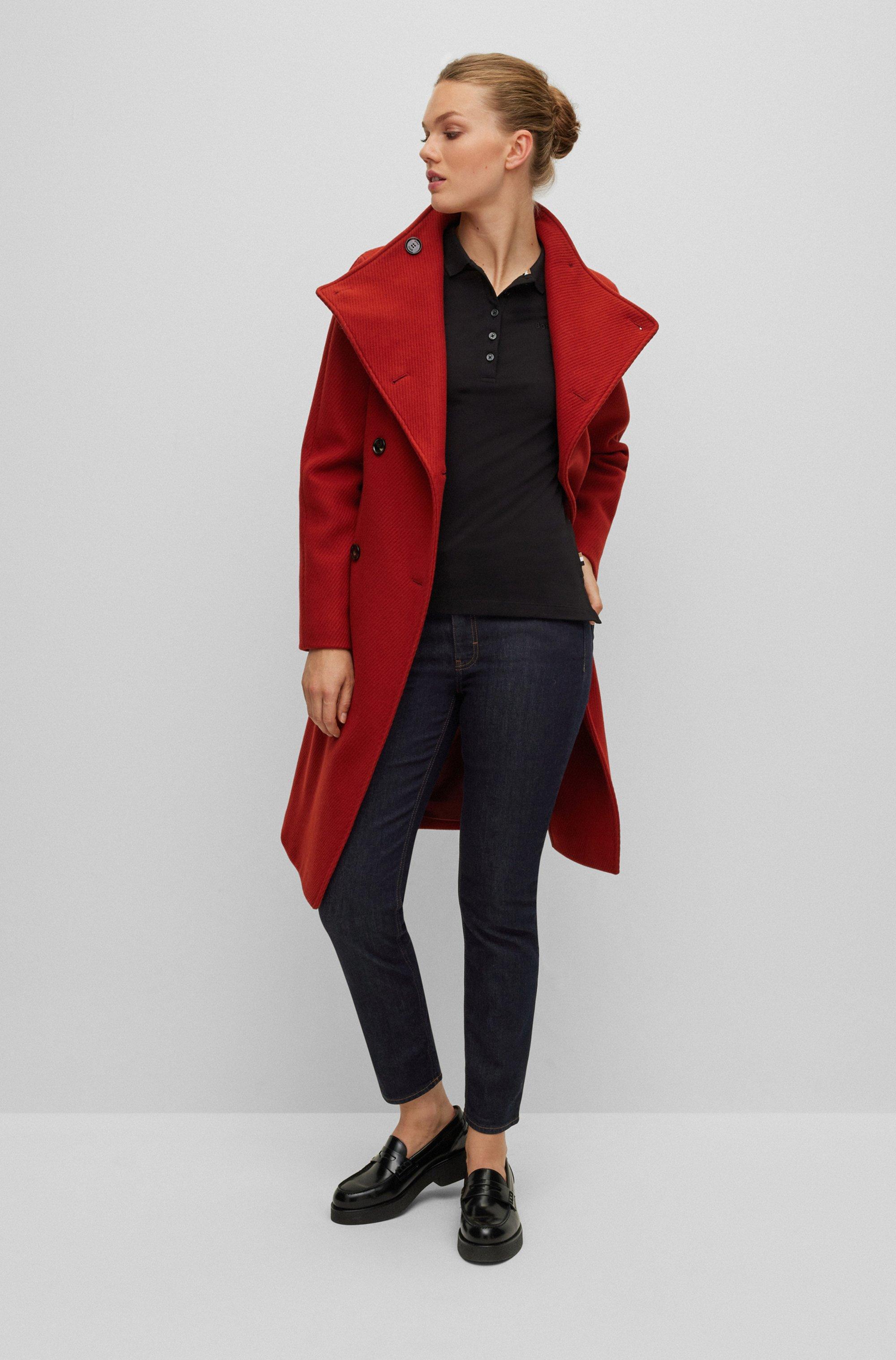 Slim-fit jeans in dark-blue comfort-stretch denim