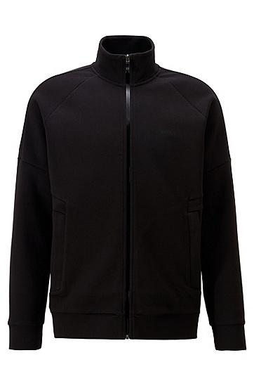 标准款休闲拉链封口外套,  001_黑色