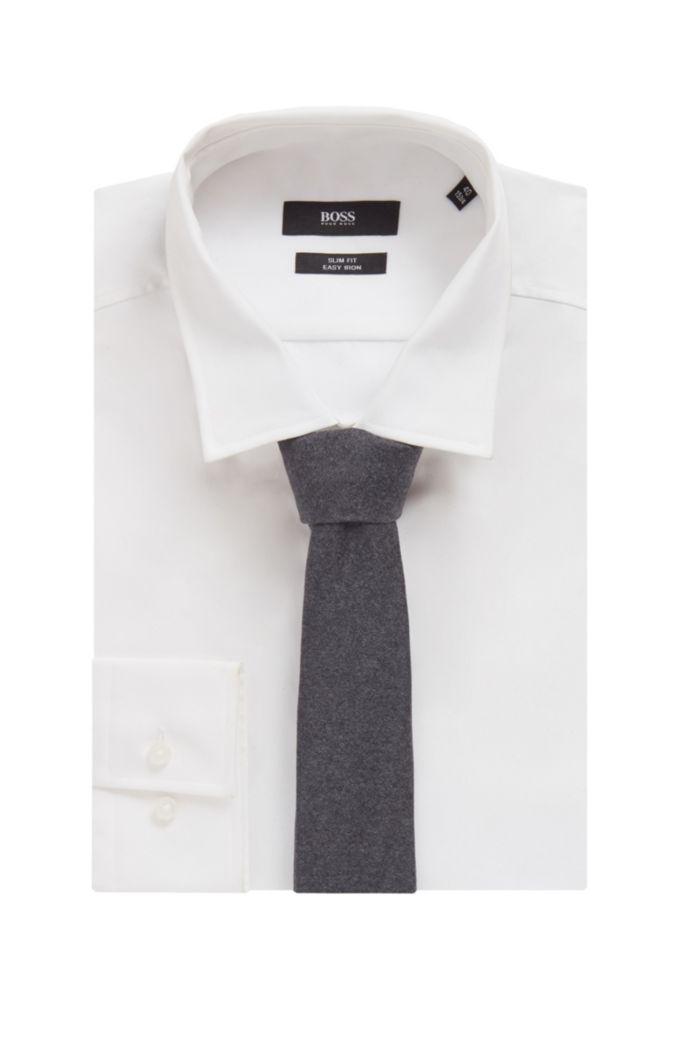 Italian-made tie in virgin-wool jacquard