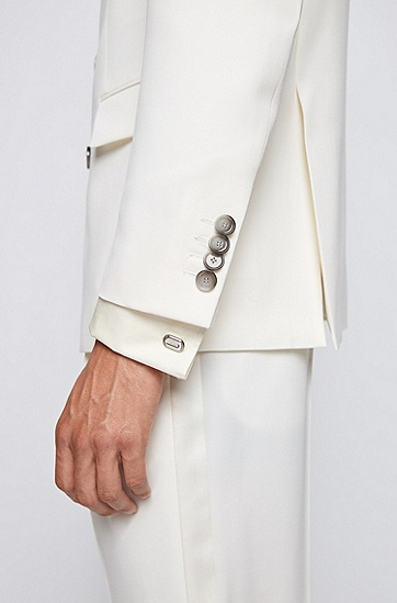 蚀刻线条徽标铜质袖扣,  040_银灰色