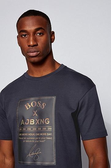 ALBXNG系列印花T恤衫,  402_暗蓝色
