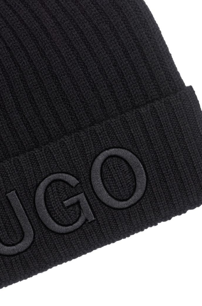 Unisex-Wollmütze mit Logo-Stickerei