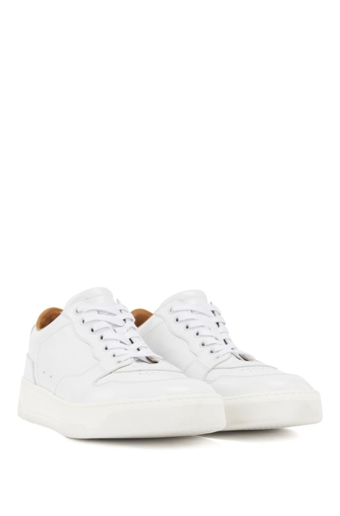 Lace-up trainers in nappa leather