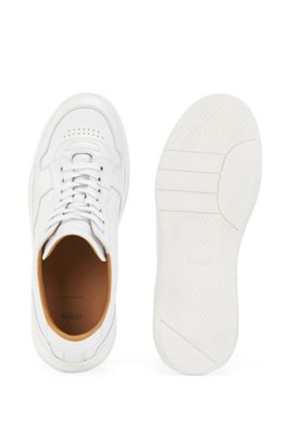 Lace-up trainers in nappa leather, White