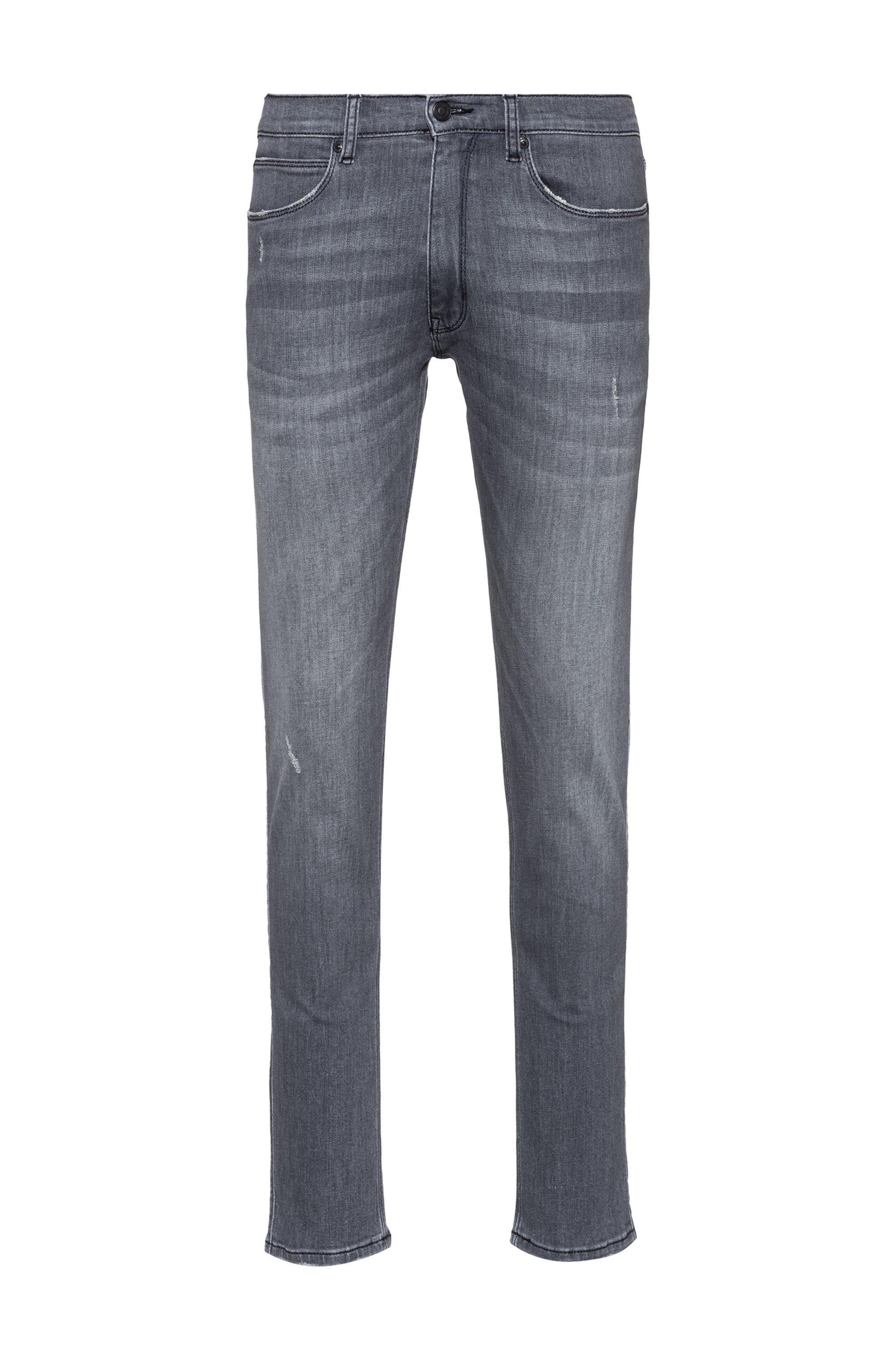 Extra-slim-fit jeans in grey comfort-stretch denim, Grey