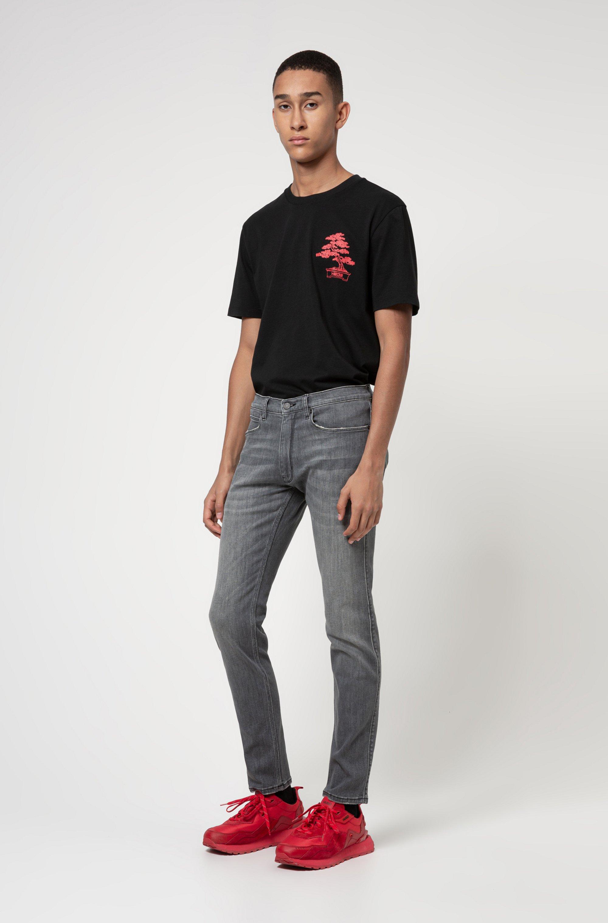Extra-slim-fit jeans in grey comfort-stretch denim