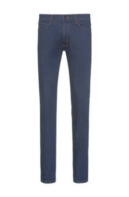 Extra-slim-fit jeans in dark-blue stretch denim, Dark Blue