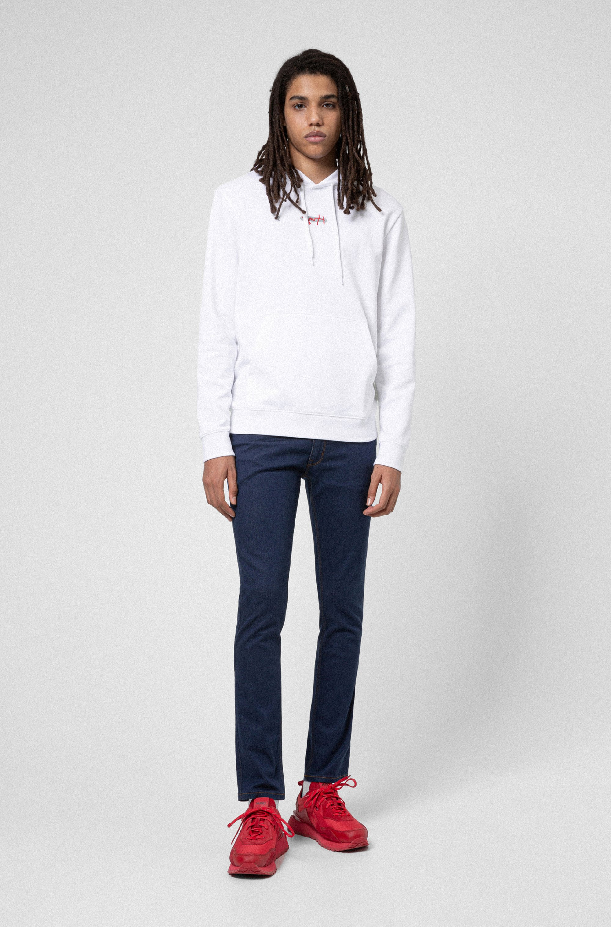 Extra-slim-fit jeans in dark-blue stretch denim