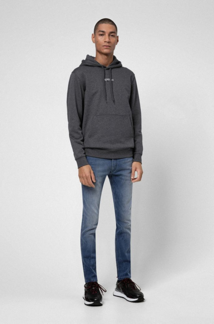 Extra-slim-fit jeans in mid-blue stretch denim