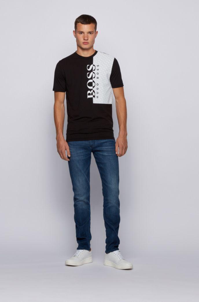 T-shirt con logo stampato in jersey di misto cotone prodotto in modo responsabile