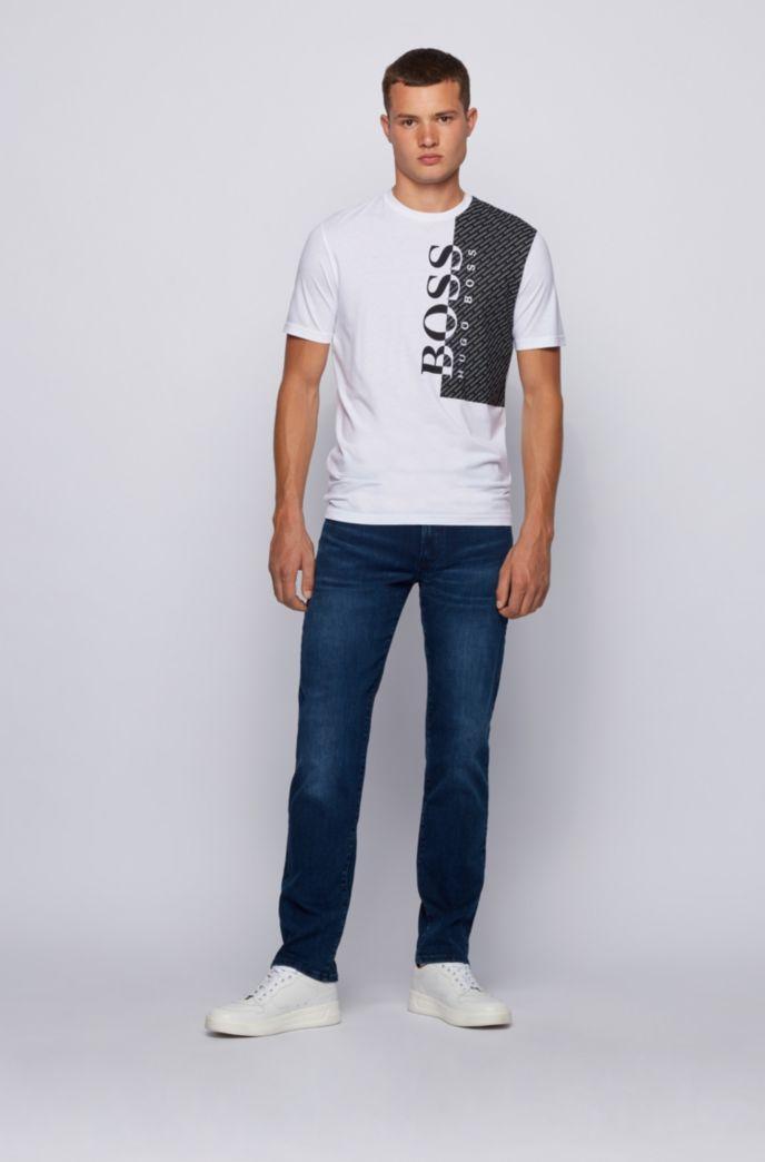 T-shirt à logo imprimé en jersey de coton mélangé éco-responsable
