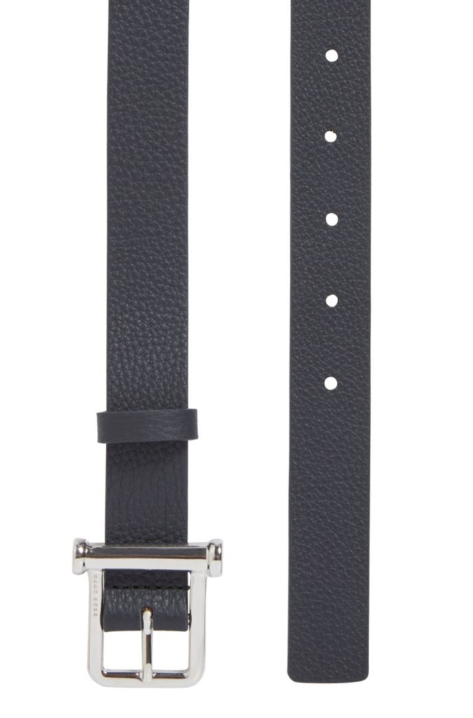 Italian-made grainy-leather belt with new-season buckle