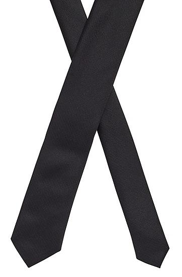 丝绸提花面料字母图案领带,  001_黑色