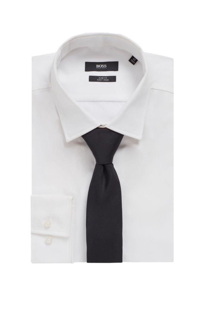 Monogrammed tie in silk jacquard
