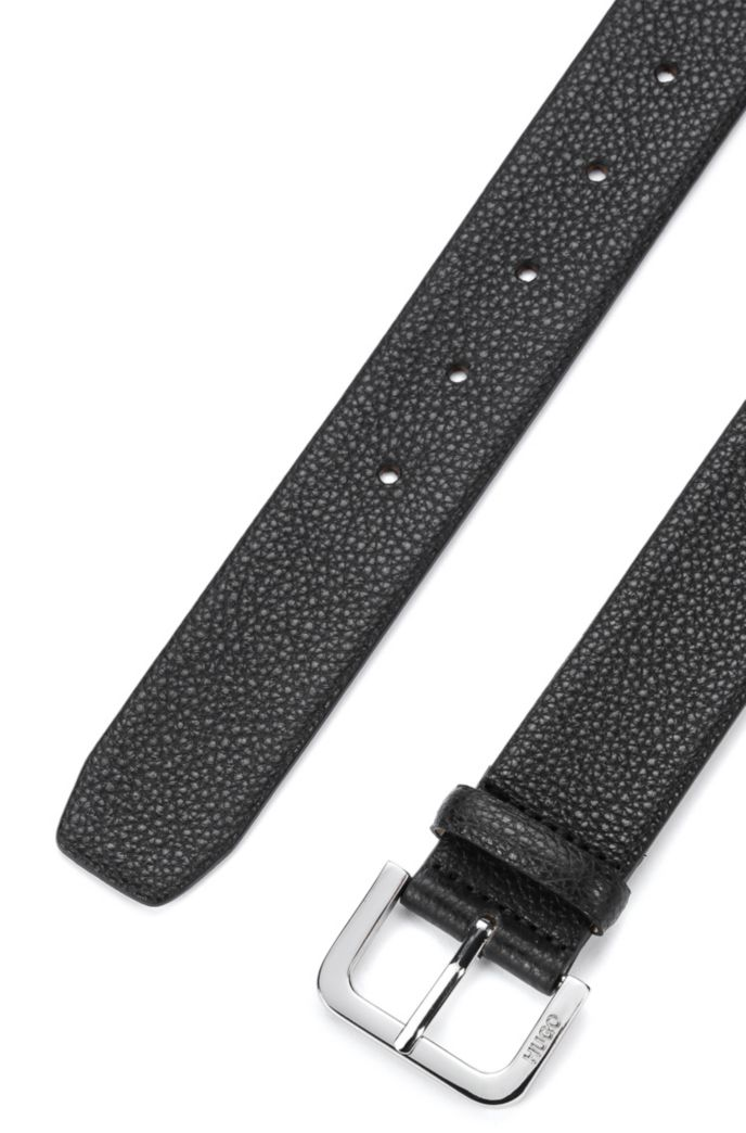 Italian-made belt in grained leather