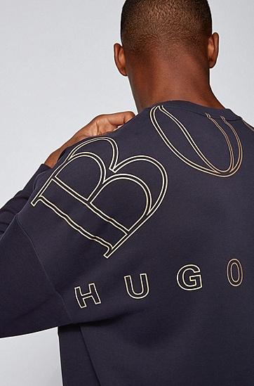 AJBXNG系列叠穿卫衣,  402_暗蓝色