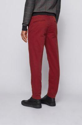 Pantalones Para Hombre Rojo Hugo Boss