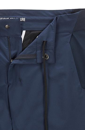 多功能修身防水府绸长裤,  410_海军蓝色