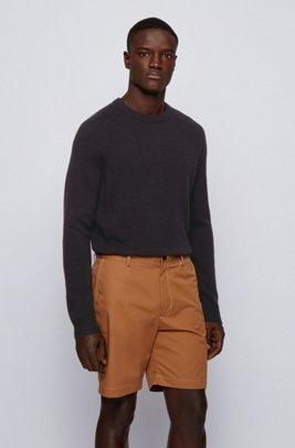 Regular-fit sweater in pure cashmere, Black