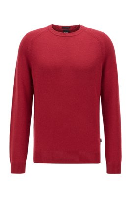 Regular-fit sweater in pure cashmere, Dark Red