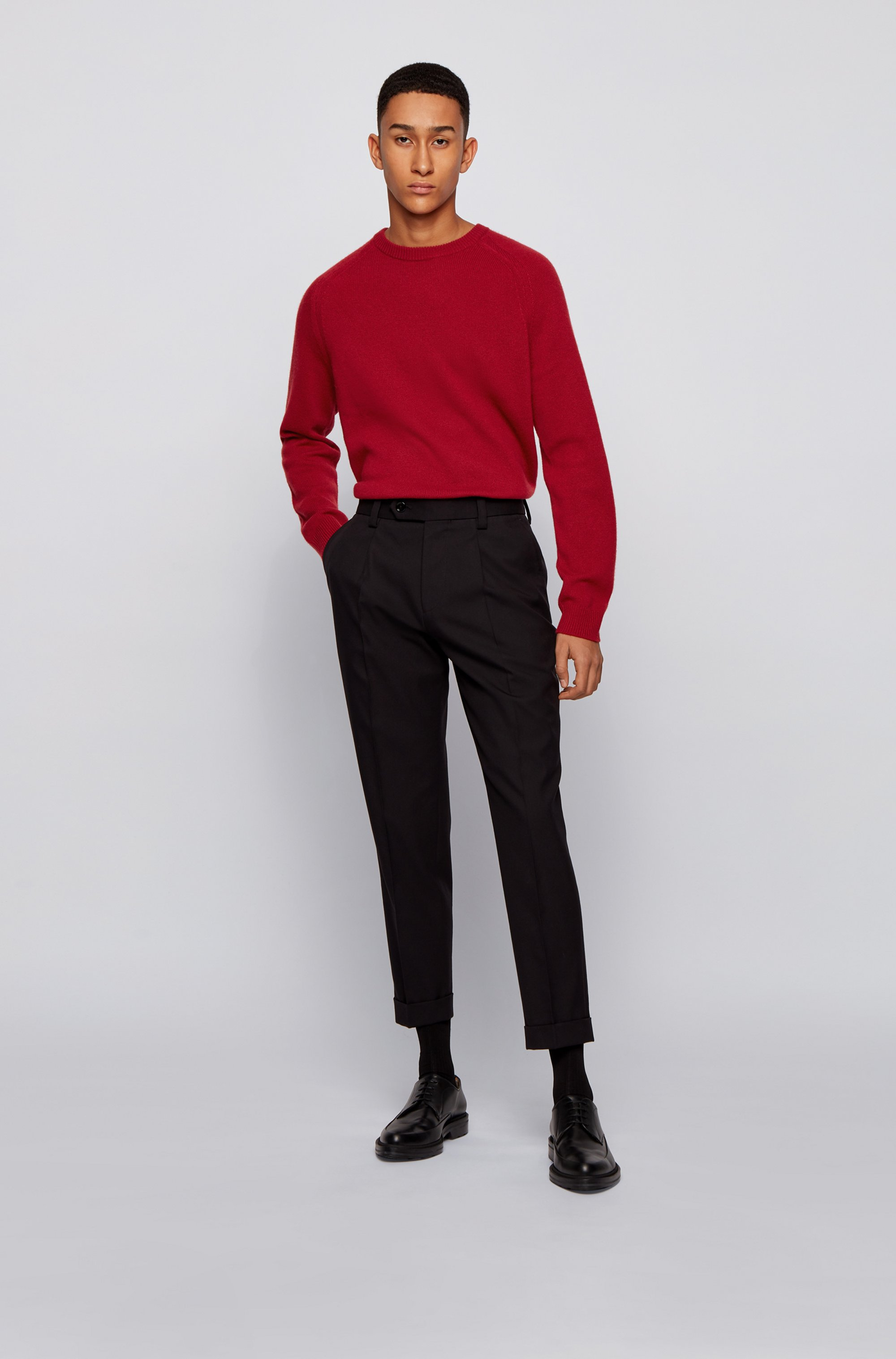 Regular-fit sweater in pure cashmere