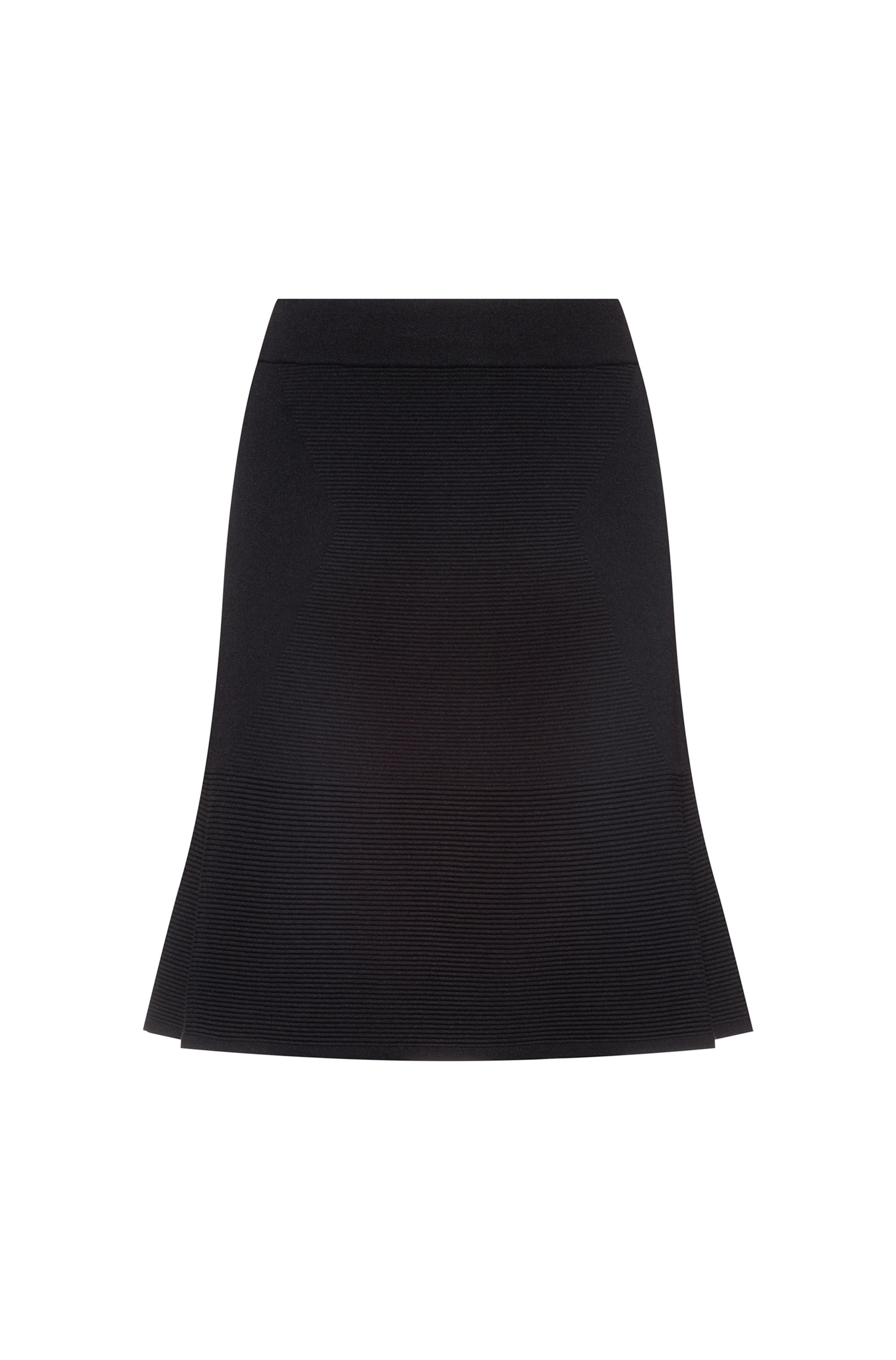 Knitted skirt with placement ottoman structure, Black