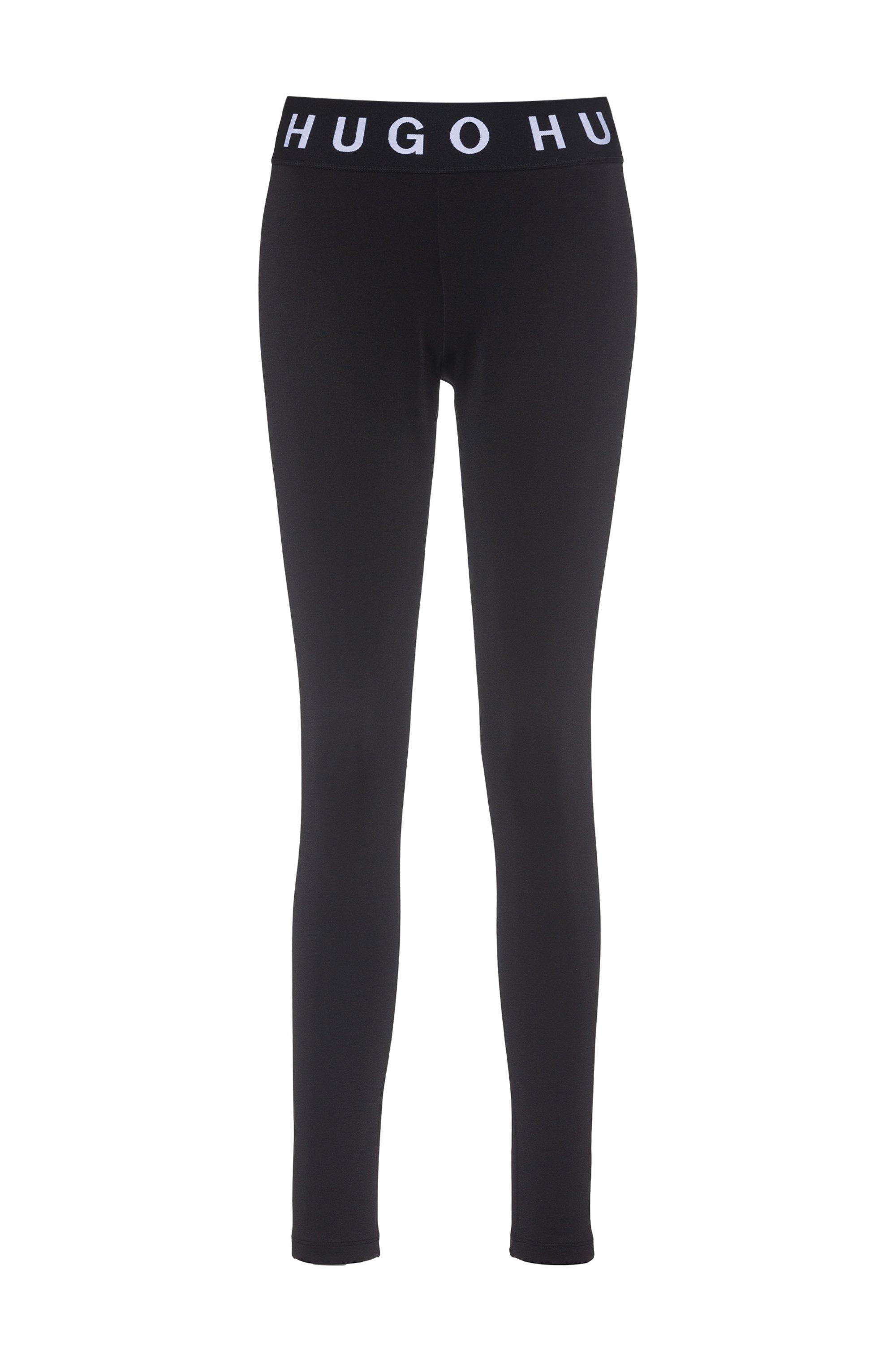 Legging Skinny Fit à logos contrastants, Noir