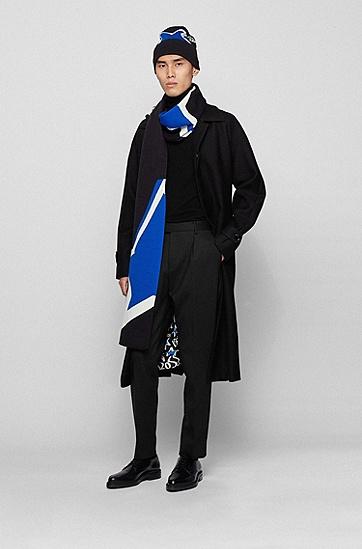 JUSTIN TEODORO系列星型围巾,  001_黑色
