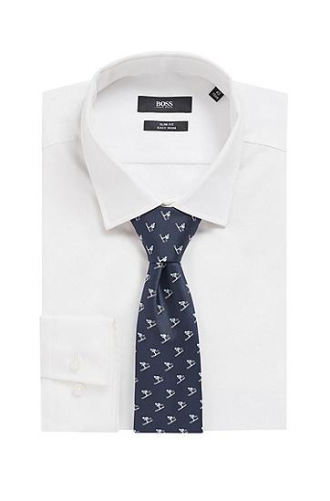 防水真丝提花图案装饰领带,  450_浅蓝色