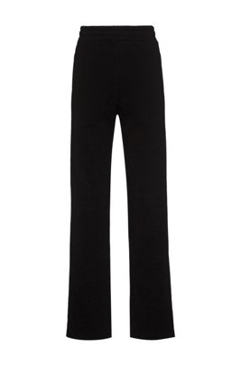 Relaxed-fit jogging trousers with side-seam logo tape, Black