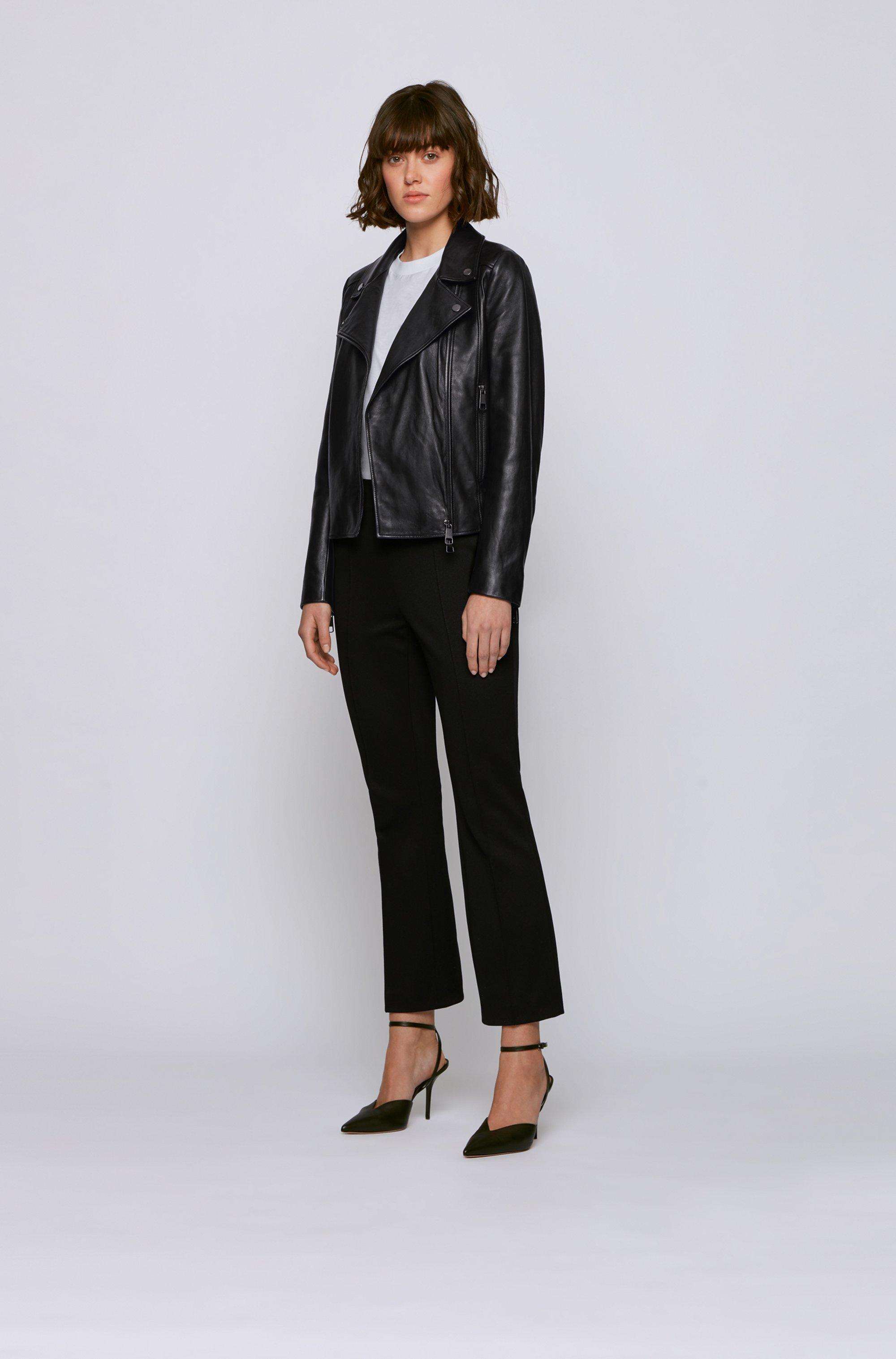Biker-style leather jacket in Olivenleder®