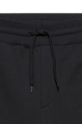 Hugo Boss Survêtement Noir Set Fermeture éclair Haut à capuche et pantalon Slim Toutes Tailles