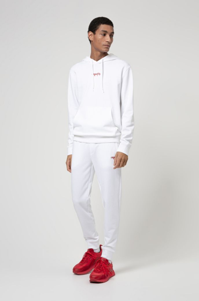 French terry jogging trousers with new-season logo embroidery