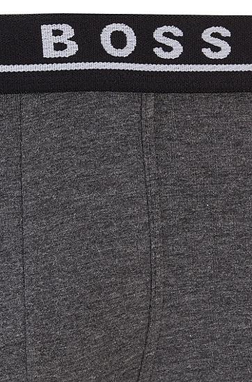 徽标裤腰弹力棉短裤三条装 ,  974_多色