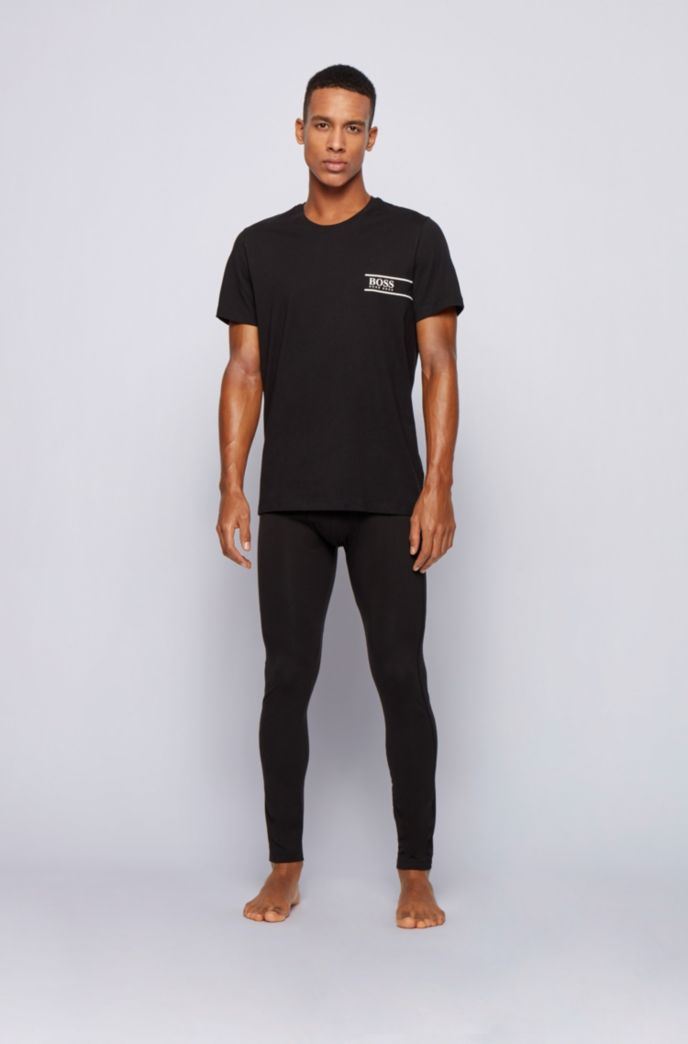 Long johns in stretch bamboo-viscose with logo waistband