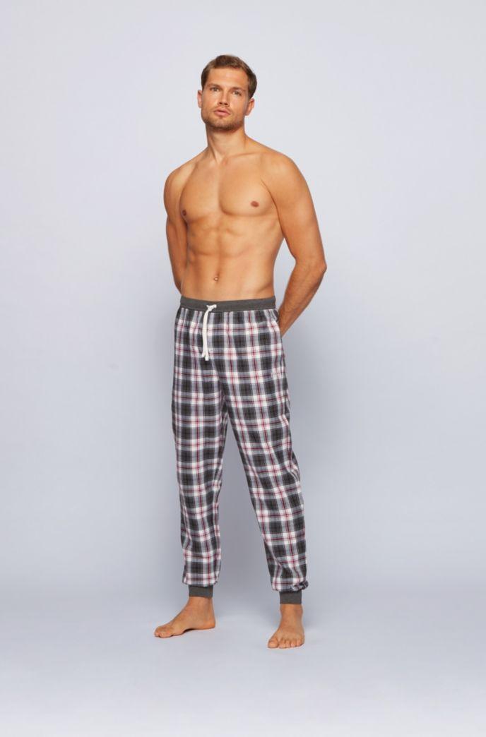 Checked pyjama trousers in super-soft cotton twill