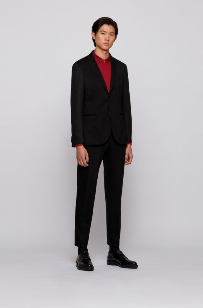 Slim-fit polo shirt in mercerised cotton piqué