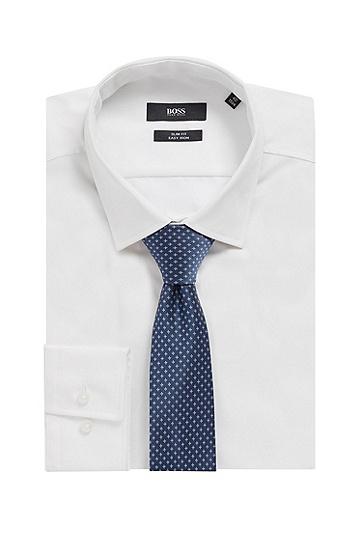 意大利制造提花微型图案领带,  403_暗蓝色