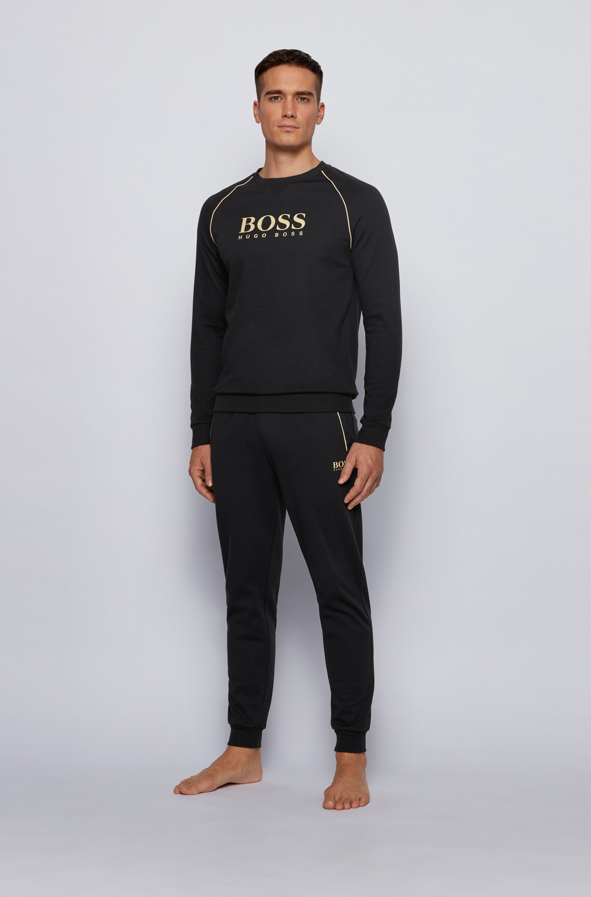 Piqué loungewear sweatshirt with metallic details