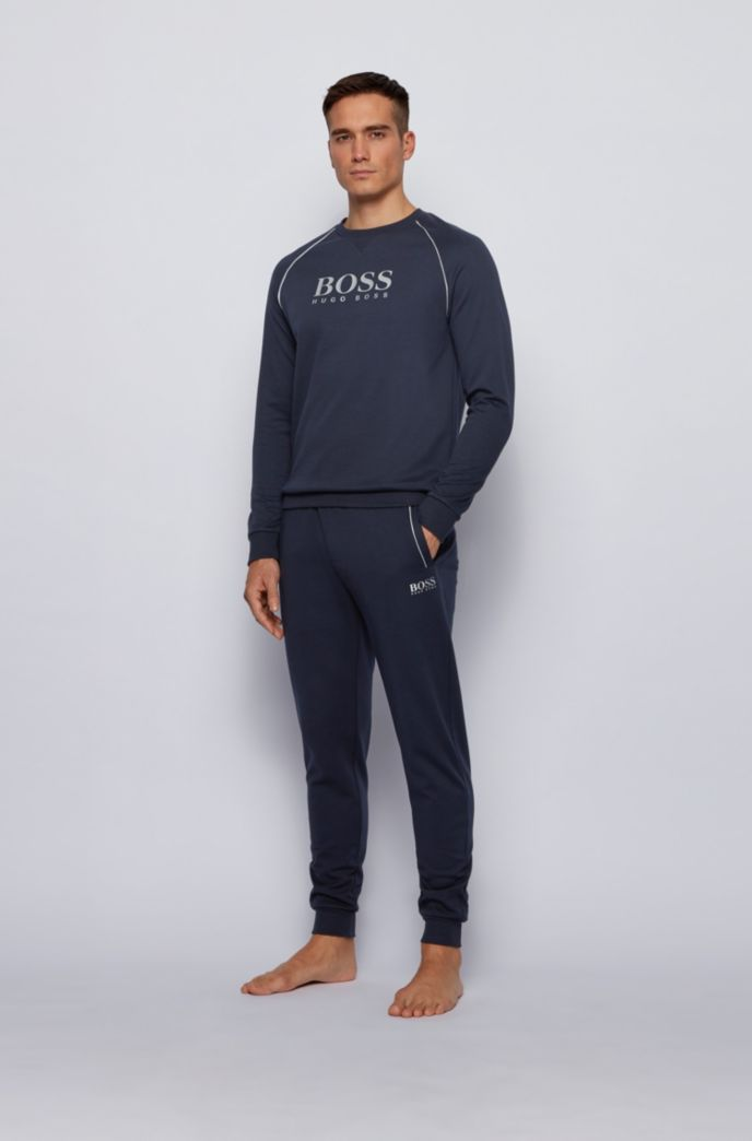 Piqué loungewear sweatshirt with metallic details