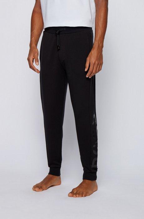 Logo loungewear pants in a lyocell blend, Black