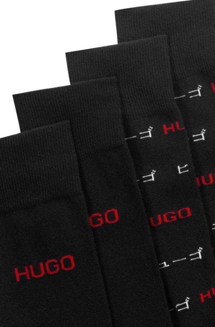 Two-pack of regular-length logo socks