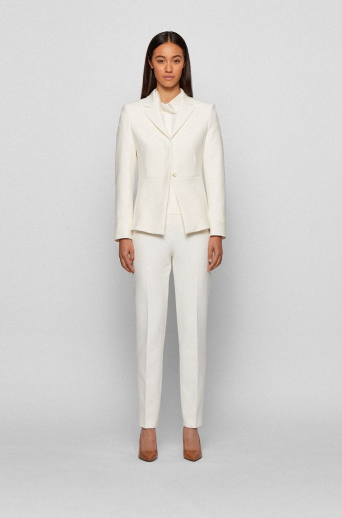 Relaxed-Fit Bluse aus gewaschener Seide mit Bindeband am Ausschnitt
