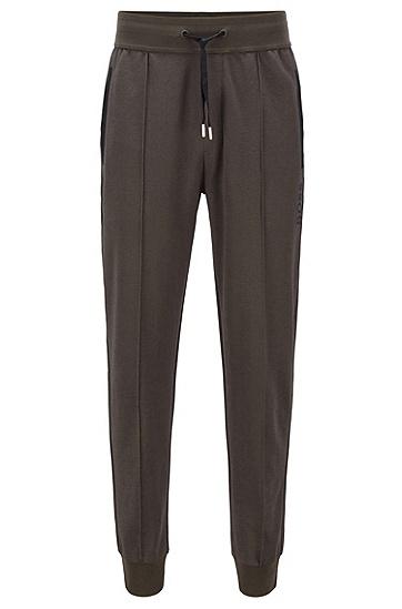 棉质混纺修身长裤,  361_淡绿色