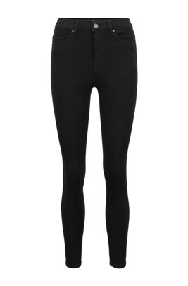 Super Skinny-Fit Jeans aus Stretch-Denim mit Stay-Black-Treatment, Schwarz