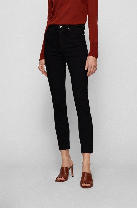 Super-skinny-fit jeans in Stay Black stretch denim, Black